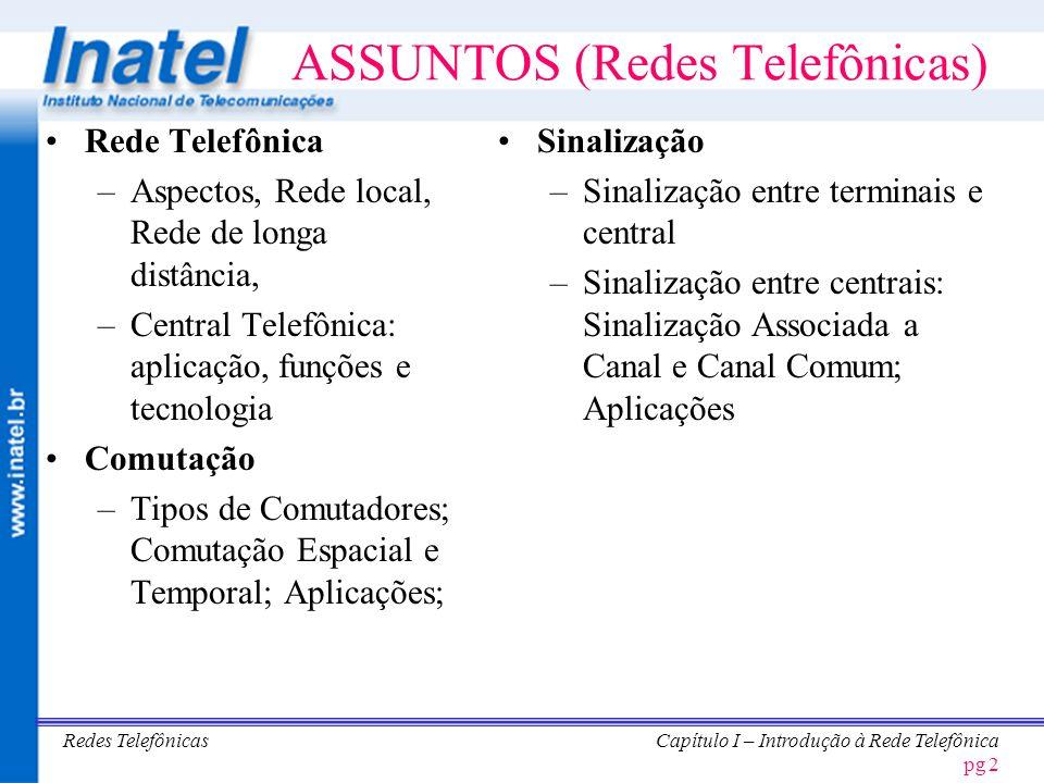ASSUNTOS (Redes Telefônicas)
