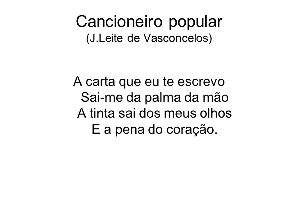 Cancioneiro popular (J.Leite de Vasconcelos)