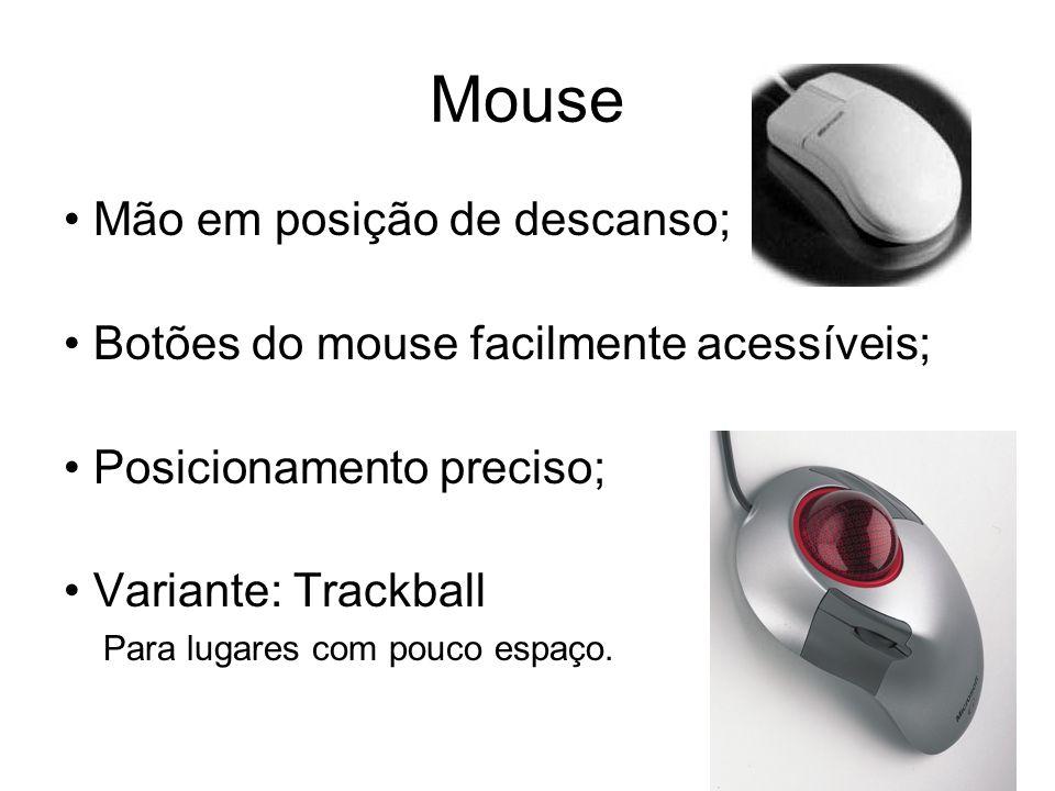Mouse • Mão em posição de descanso;