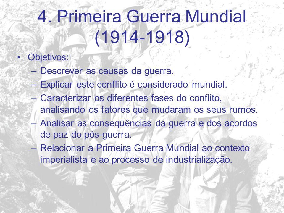 4. Primeira Guerra Mundial (1914-1918)