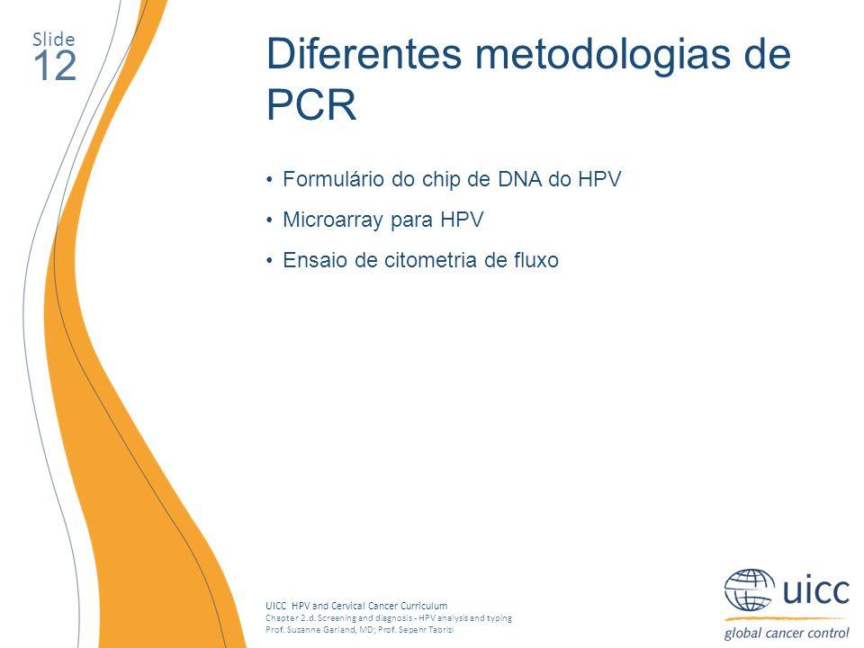 Diferentes metodologias de PCR