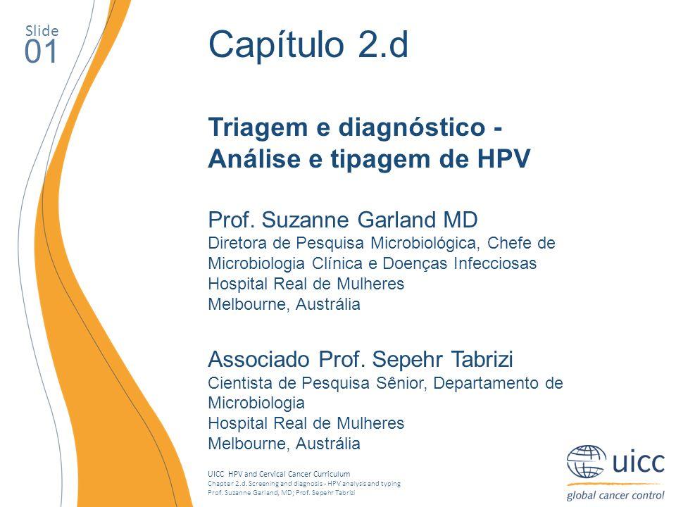 Capítulo 2.d 01 Triagem e diagnóstico - Análise e tipagem de HPV