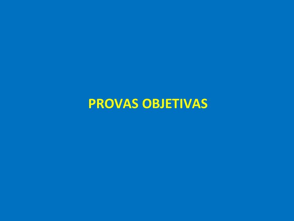 PROVAS OBJETIVAS