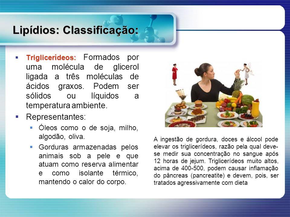Lipídios: Classificação: