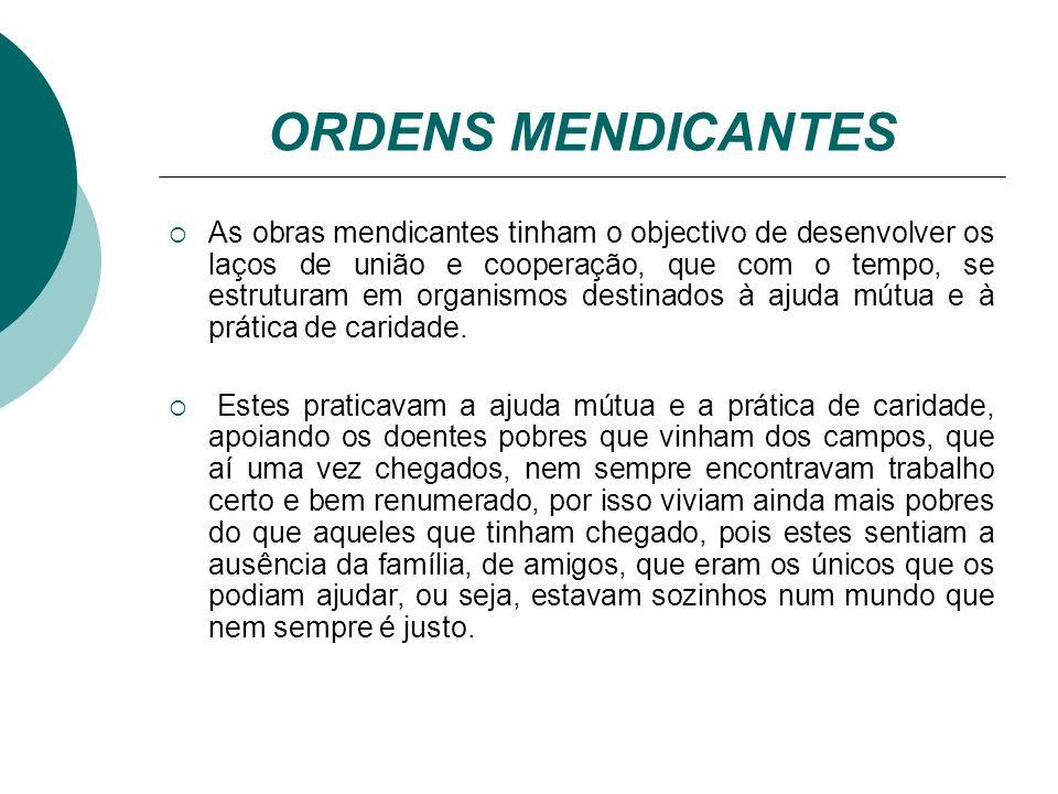 ORDENS MENDICANTES