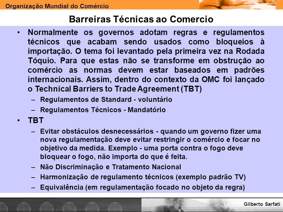Barreiras Técnicas ao Comercio