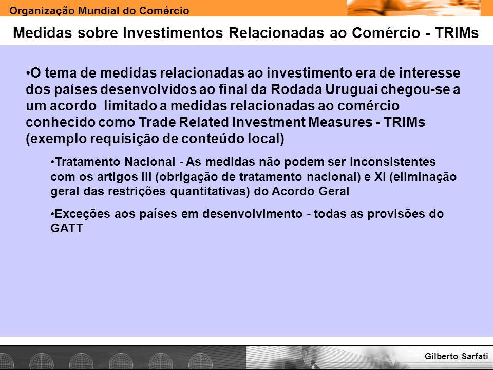 Medidas sobre Investimentos Relacionadas ao Comércio - TRIMs