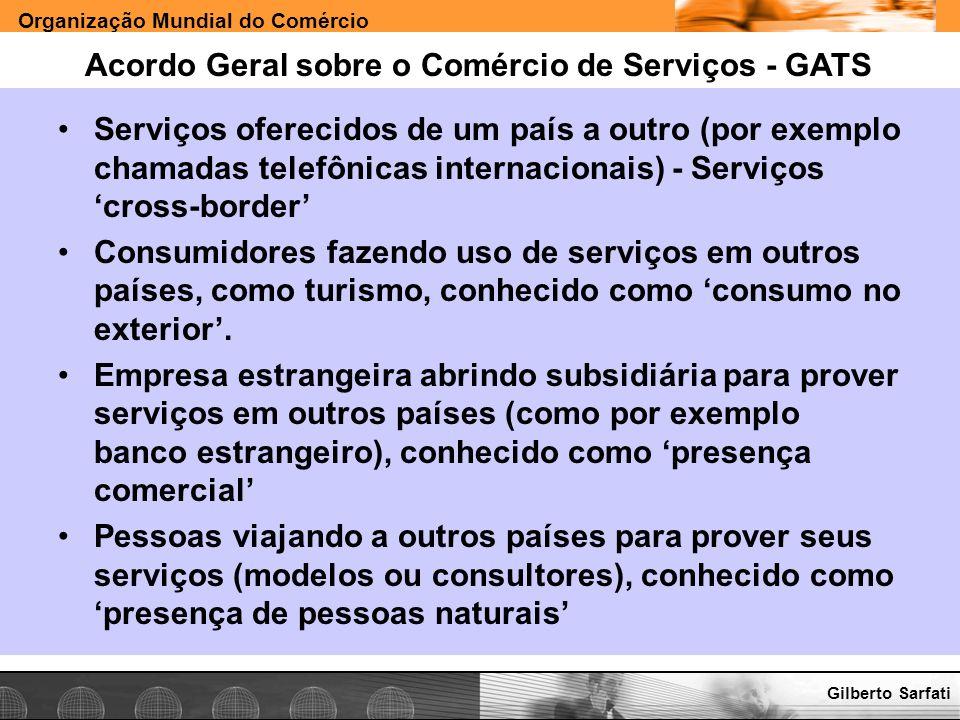 Acordo Geral sobre o Comércio de Serviços - GATS