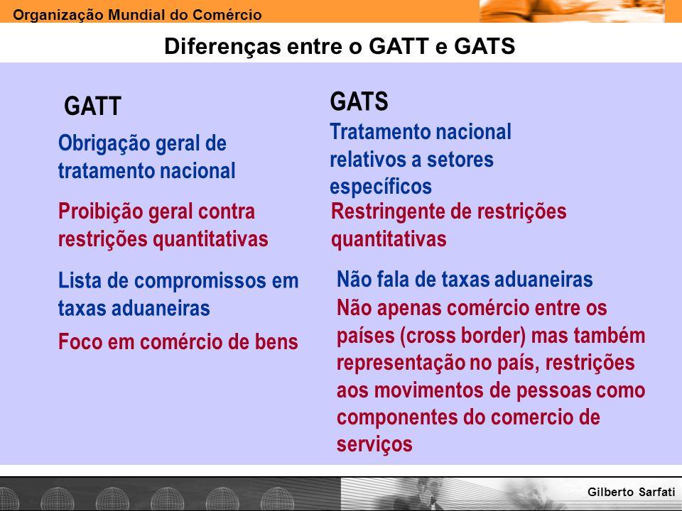 Diferenças entre o GATT e GATS