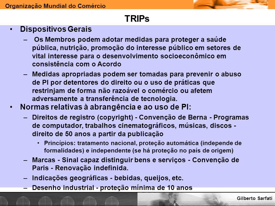 TRIPs Dispositivos Gerais