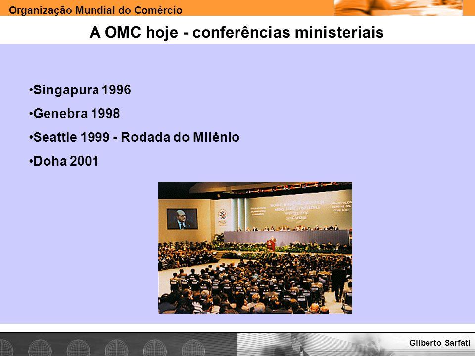 A OMC hoje - conferências ministeriais