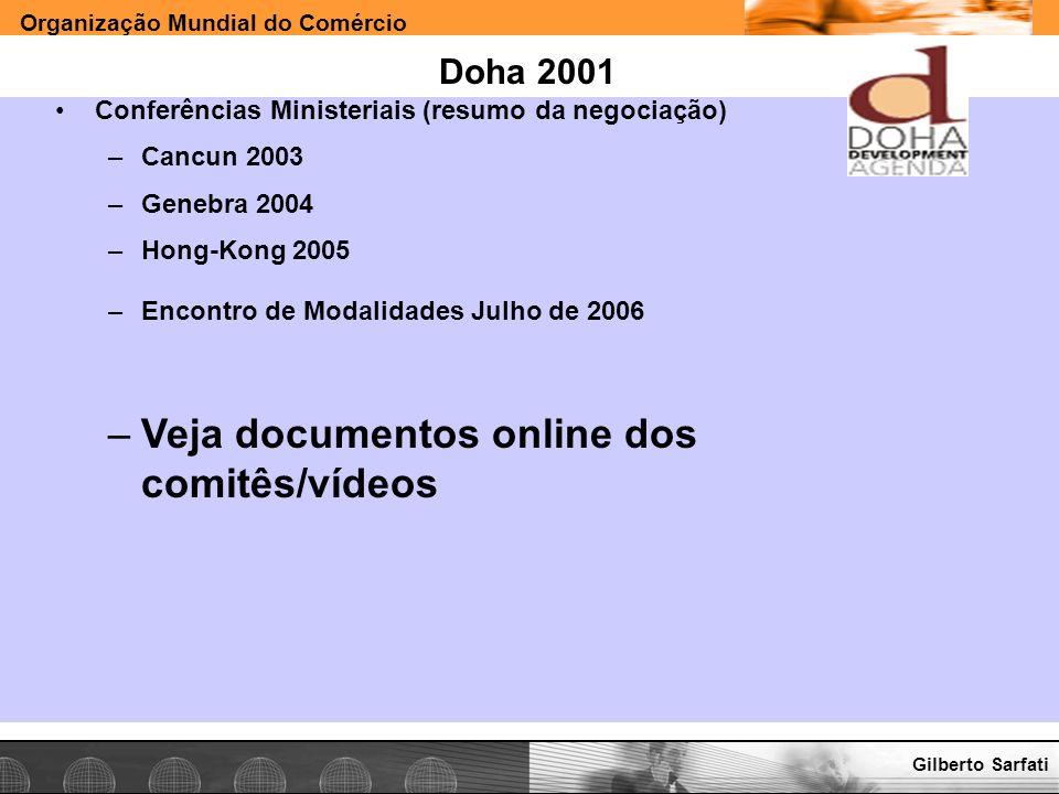 Veja documentos online dos comitês/vídeos