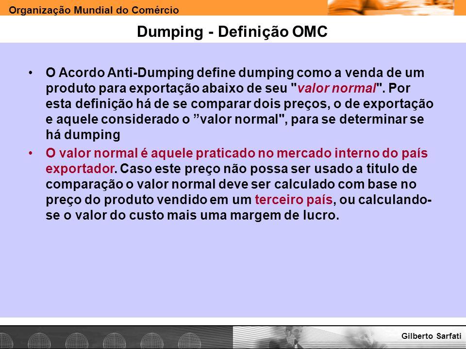 Dumping - Definição OMC
