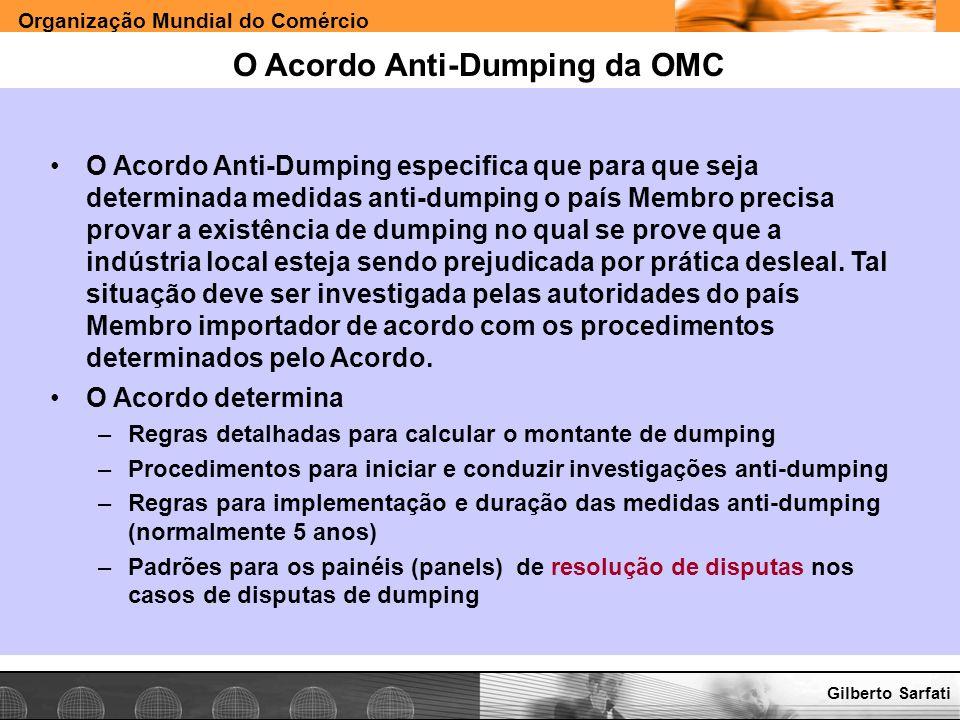 O Acordo Anti-Dumping da OMC
