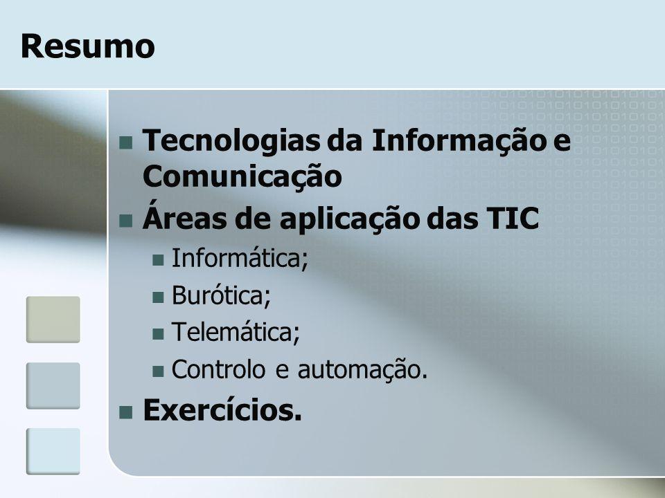 Resumo Tecnologias da Informação e Comunicação