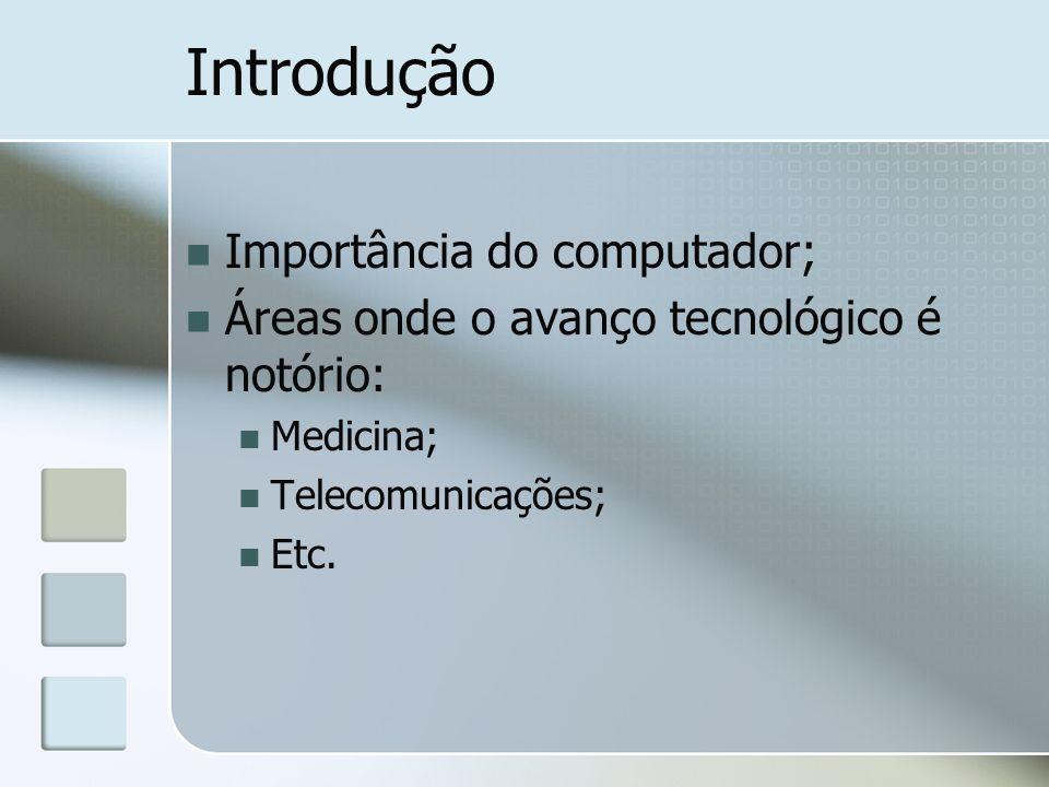 Introdução Importância do computador;