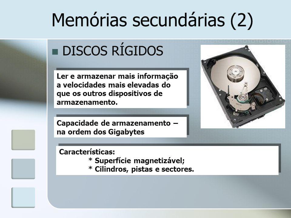 Memórias secundárias (2)