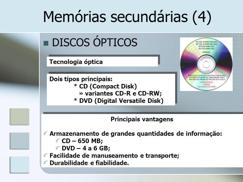Memórias secundárias (4)