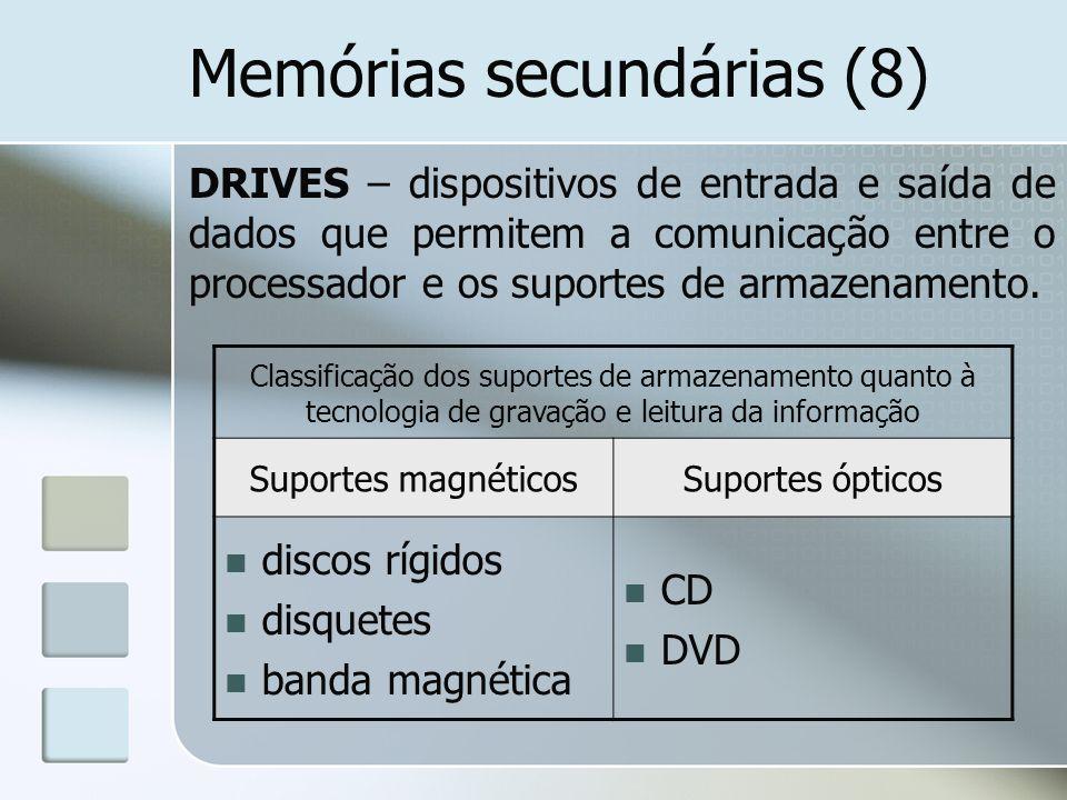 Memórias secundárias (8)