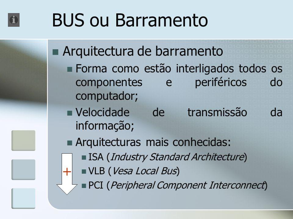 BUS ou Barramento + Arquitectura de barramento