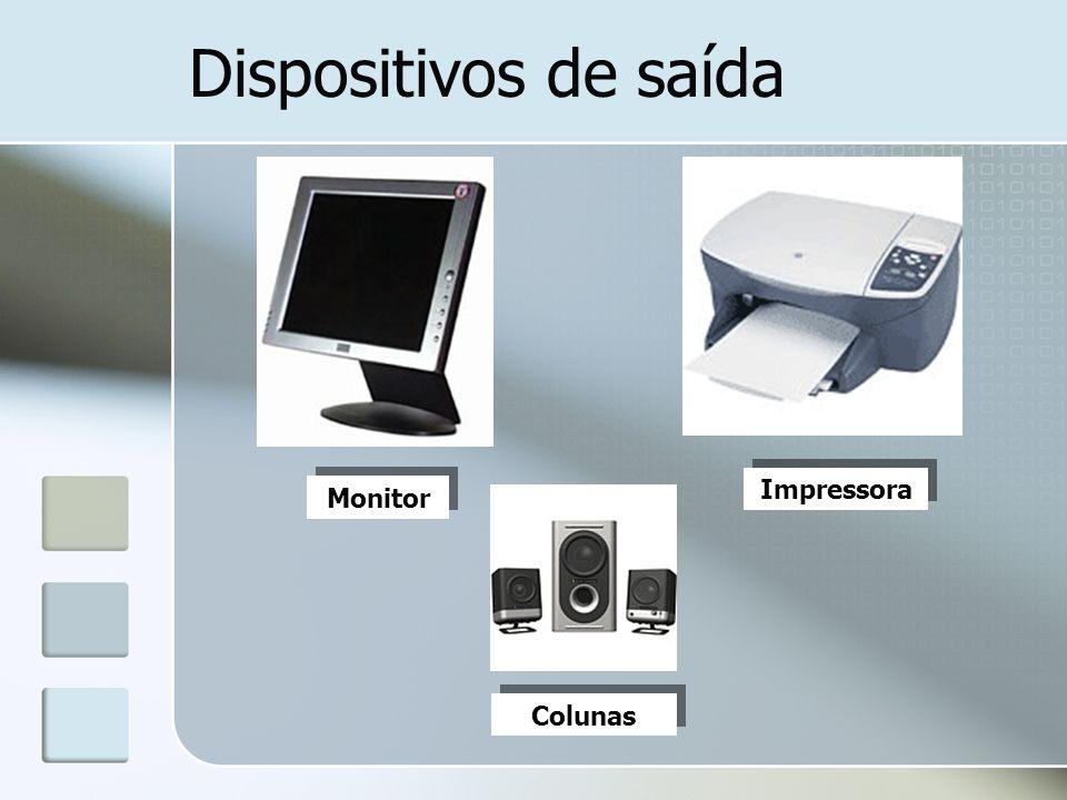 Dispositivos de saída Impressora Monitor Colunas
