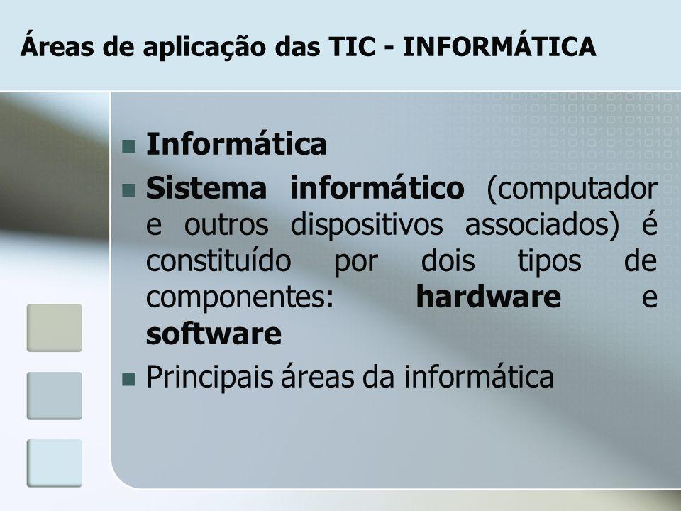 Áreas de aplicação das TIC - INFORMÁTICA