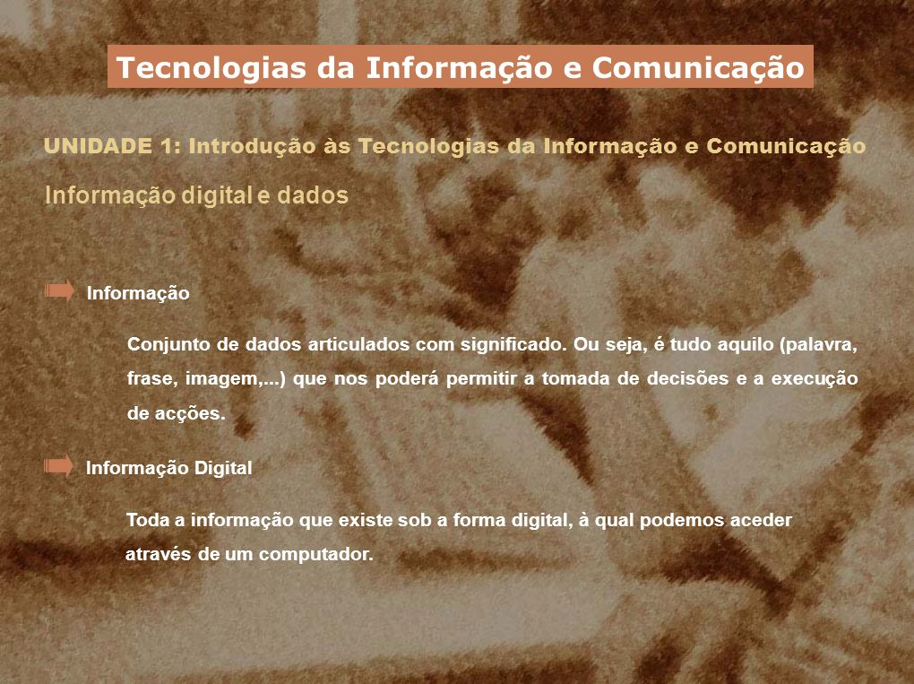 Tecnologias da Informação e Comunicação