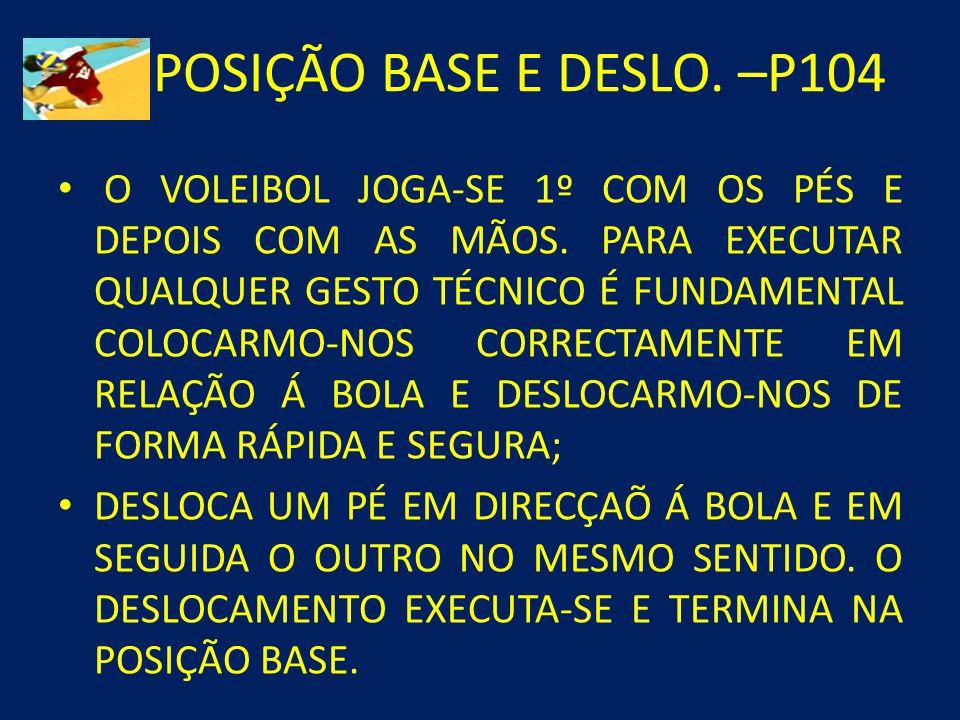 POSIÇÃO BASE E DESLO. –P104