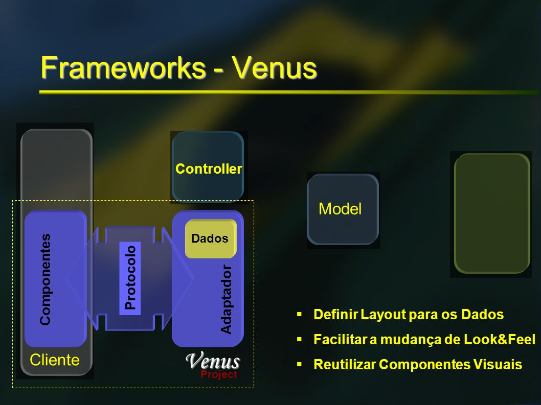 Frameworks - Venus Venus Model Cliente Controller Componentes