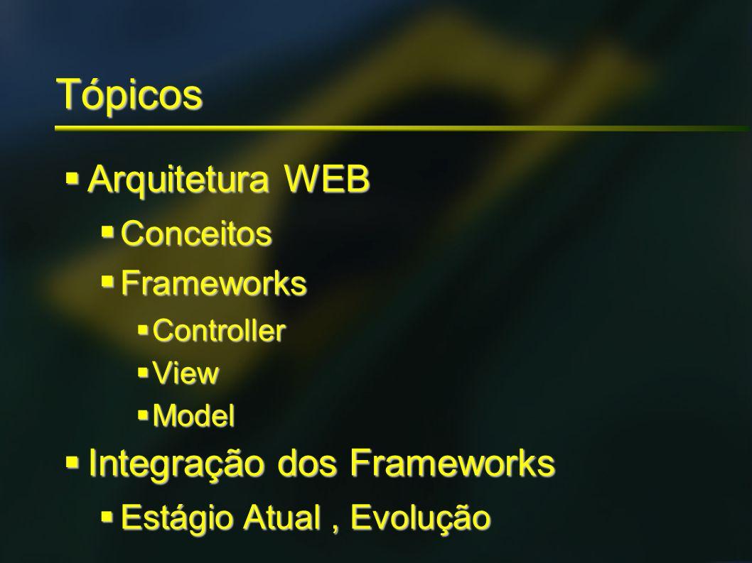 Tópicos Arquitetura WEB Integração dos Frameworks Conceitos Frameworks