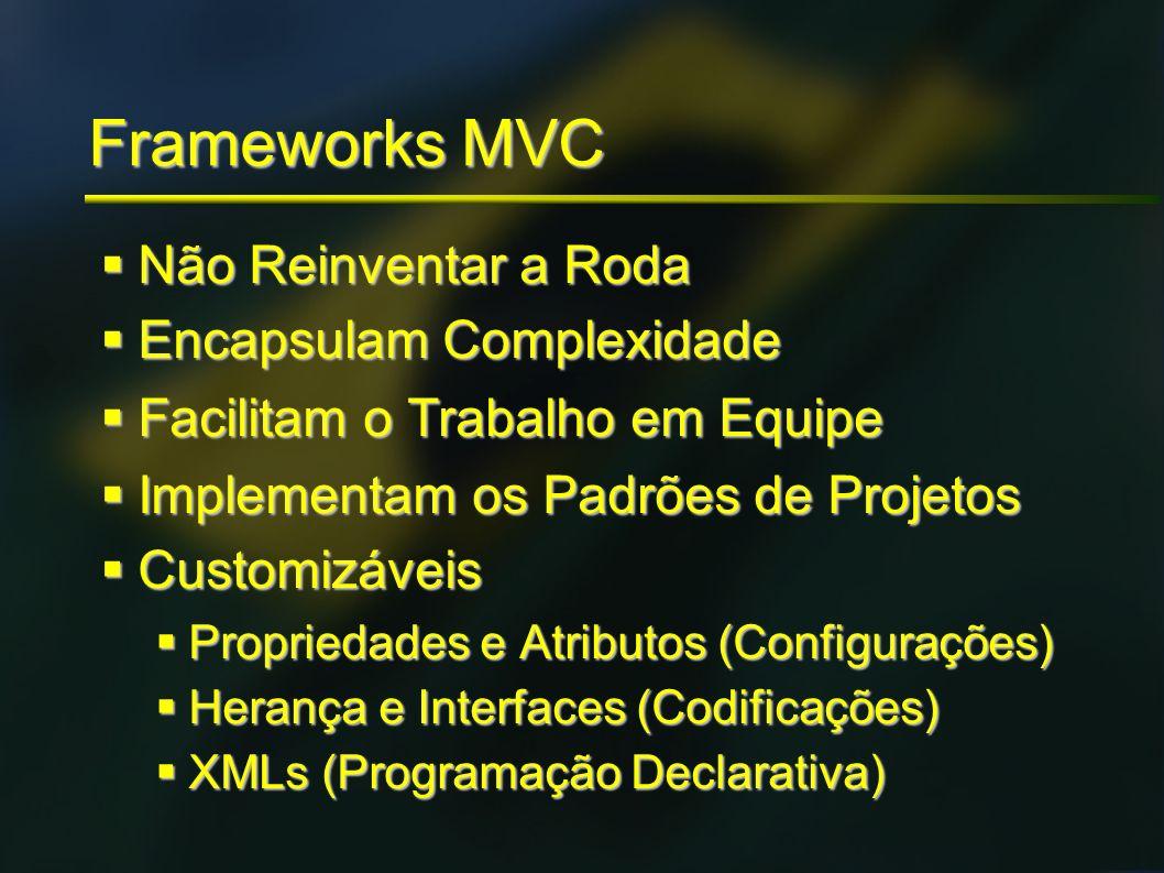 Frameworks MVC Não Reinventar a Roda Encapsulam Complexidade
