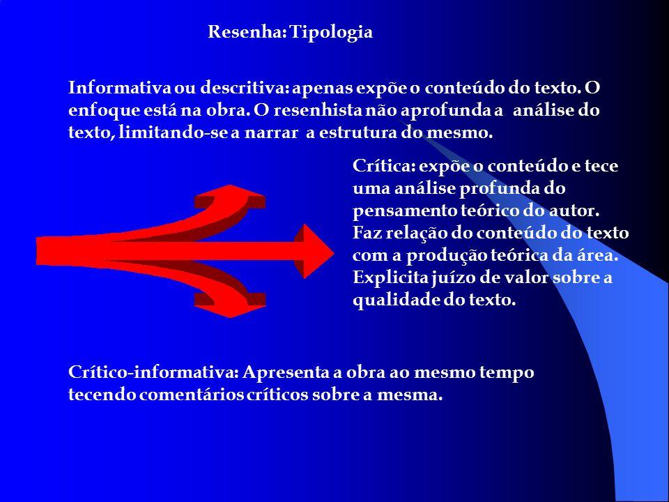 Resenha: Tipologia