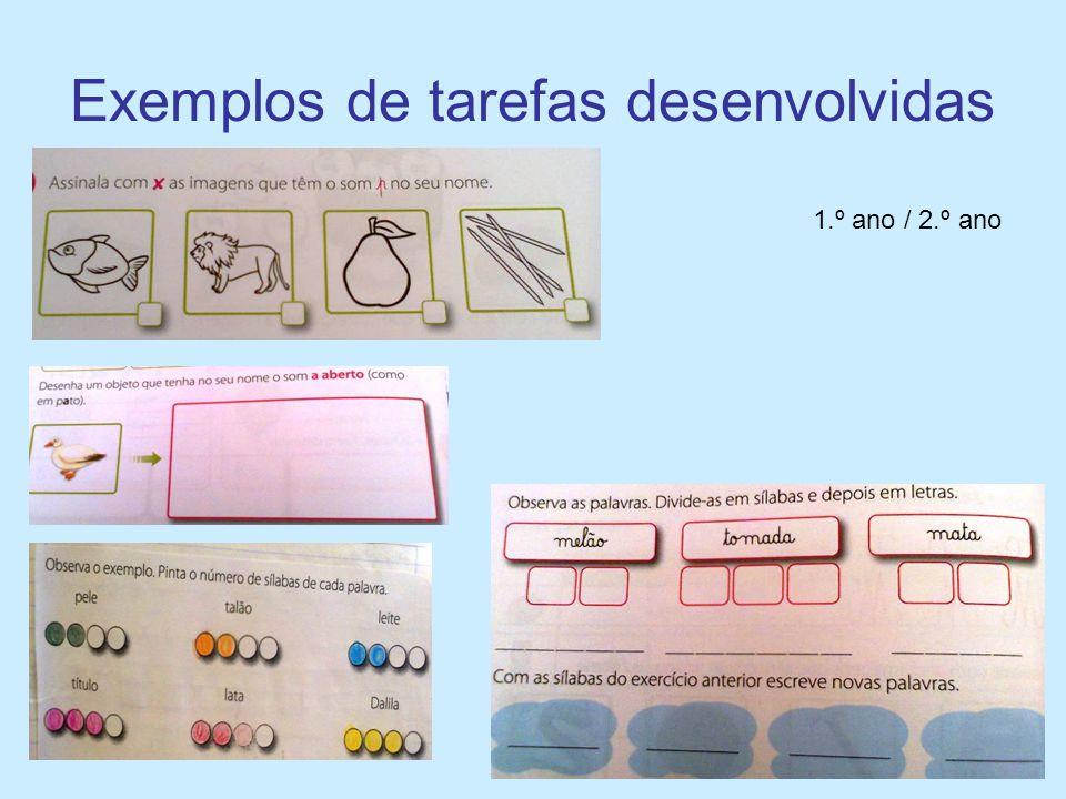 Exemplos de tarefas desenvolvidas
