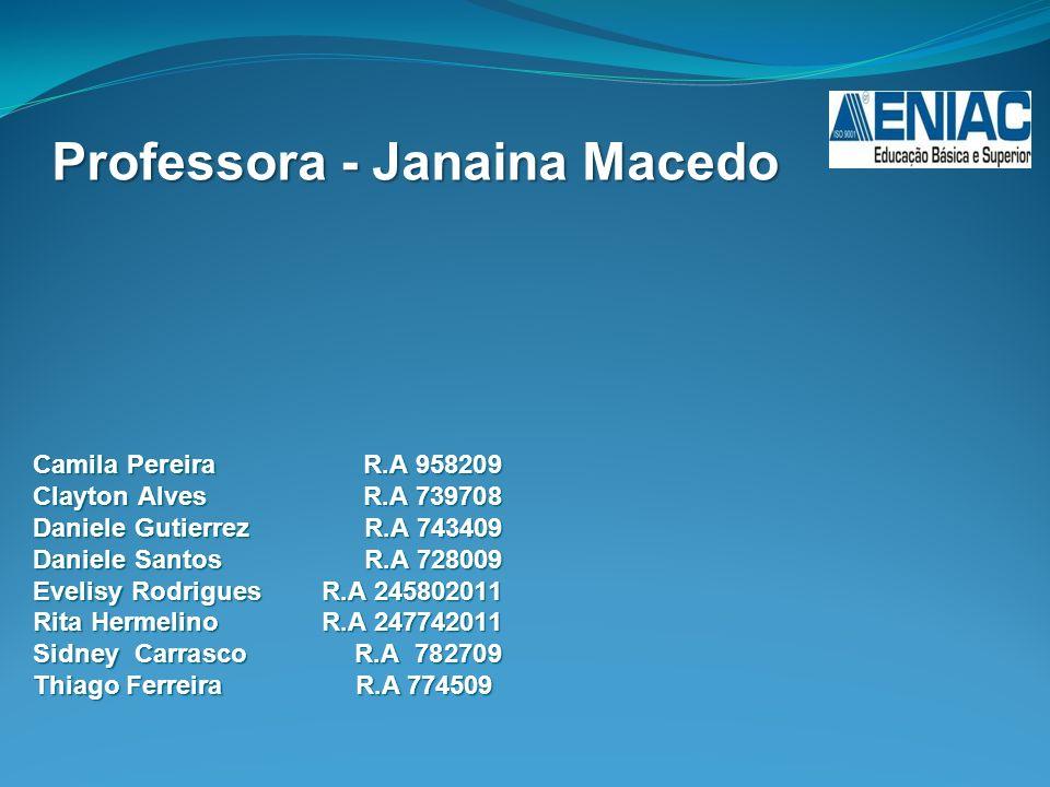 Professora - Janaina Macedo