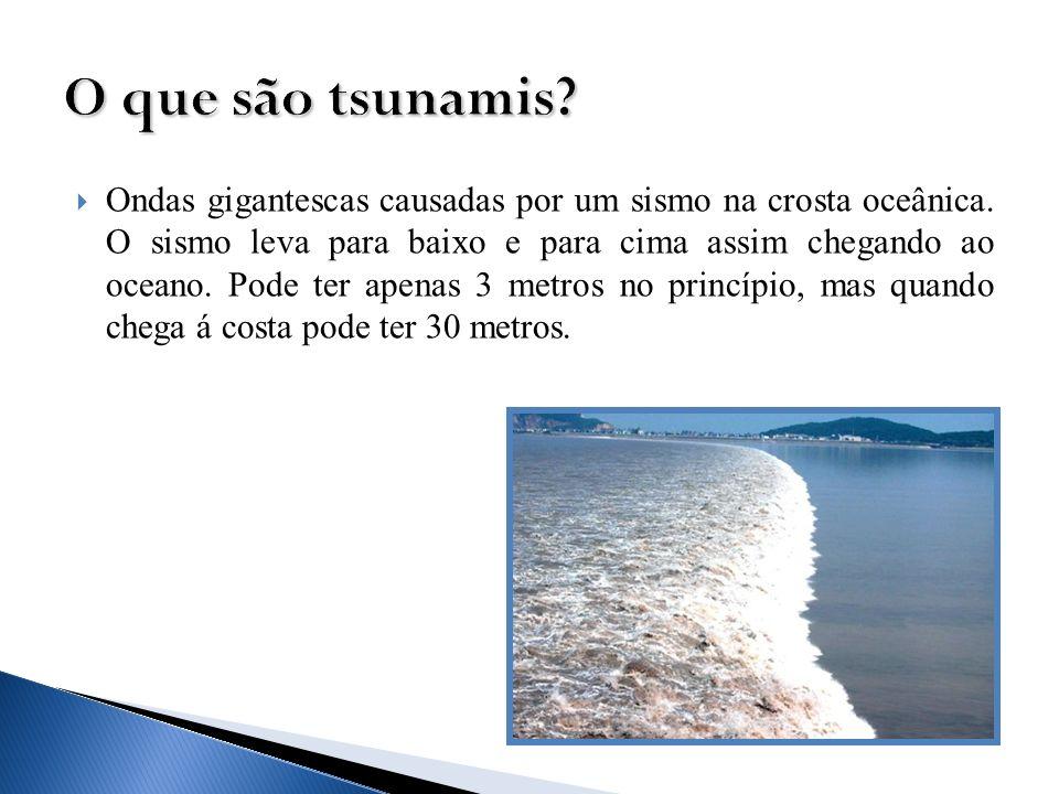 O que são tsunamis
