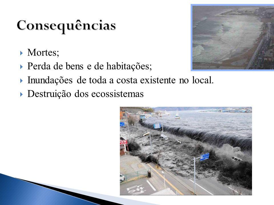 Consequências Mortes; Perda de bens e de habitações;