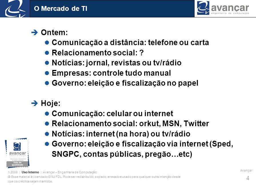 Comunicação a distância: telefone ou carta Relacionamento social: