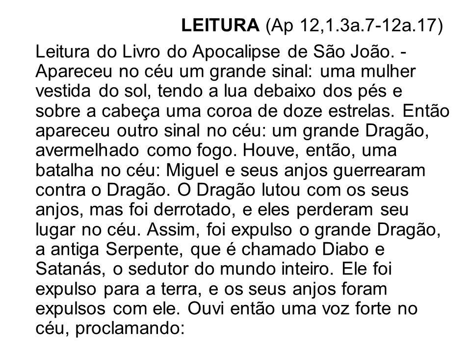 LEITURA (Ap 12,1.3a.7-12a.17)
