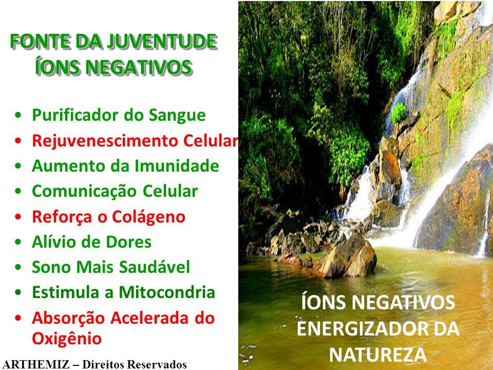 FONTE DA JUVENTUDE ÍONS NEGATIVOS