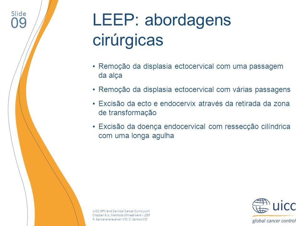 LEEP: abordagens cirúrgicas