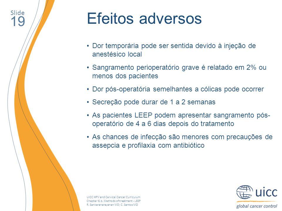 Efeitos adversos 19 Slide