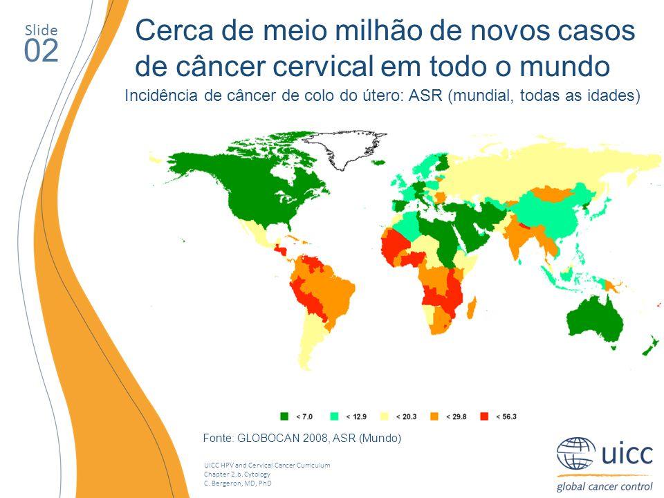 Cerca de meio milhão de novos casos de câncer cervical em todo o mundo