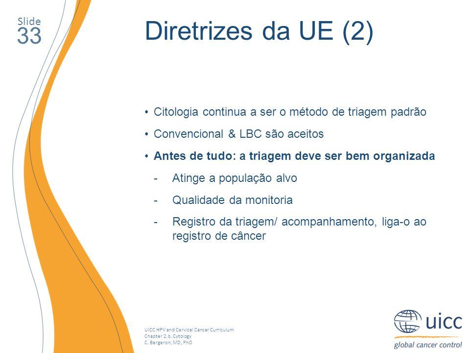 Diretrizes da UE (2) 33 Slide