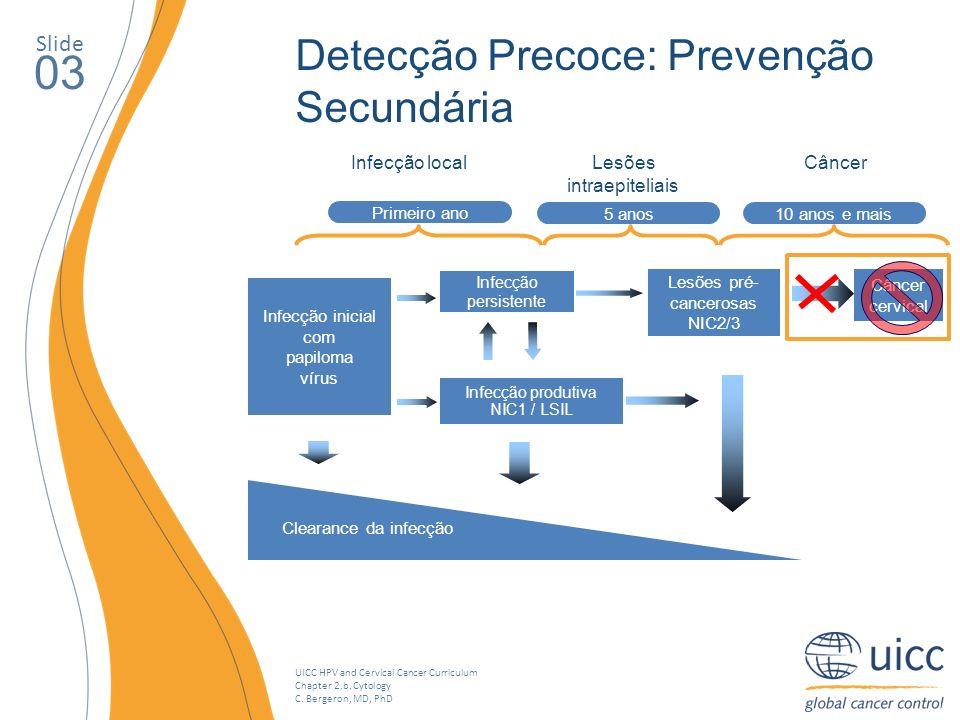 03 Detecção Precoce: Prevenção Secundária Slide Lesões intraepiteliais