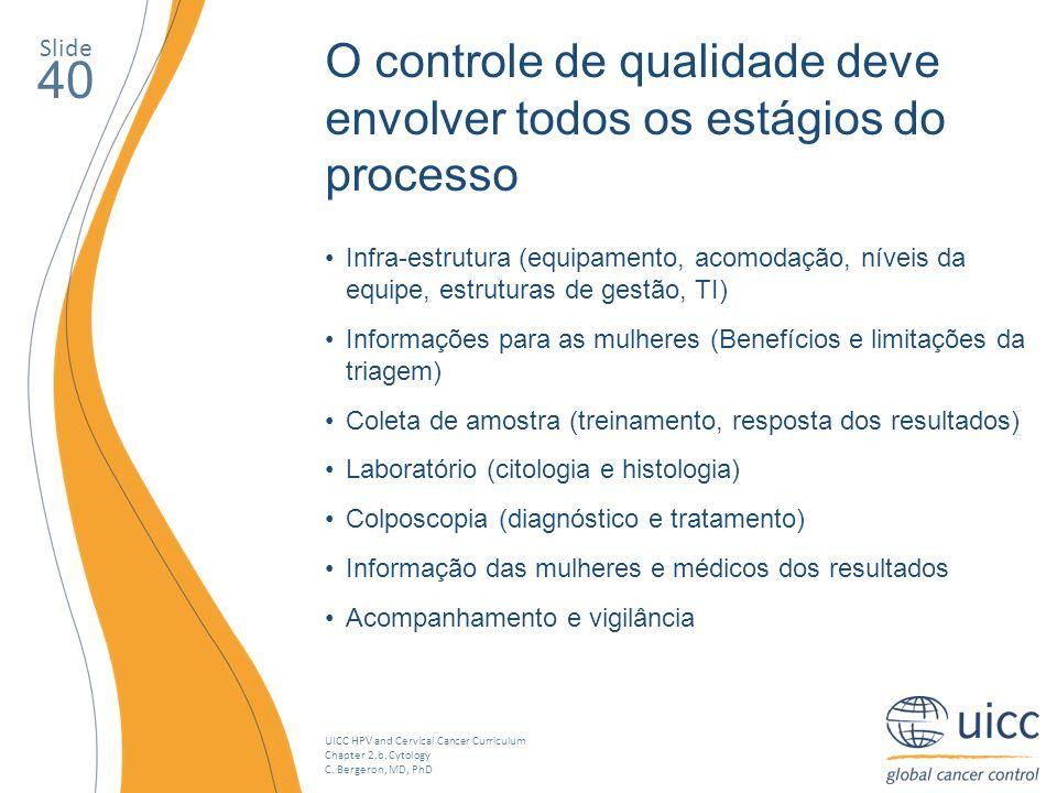 40 O controle de qualidade deve envolver todos os estágios do processo
