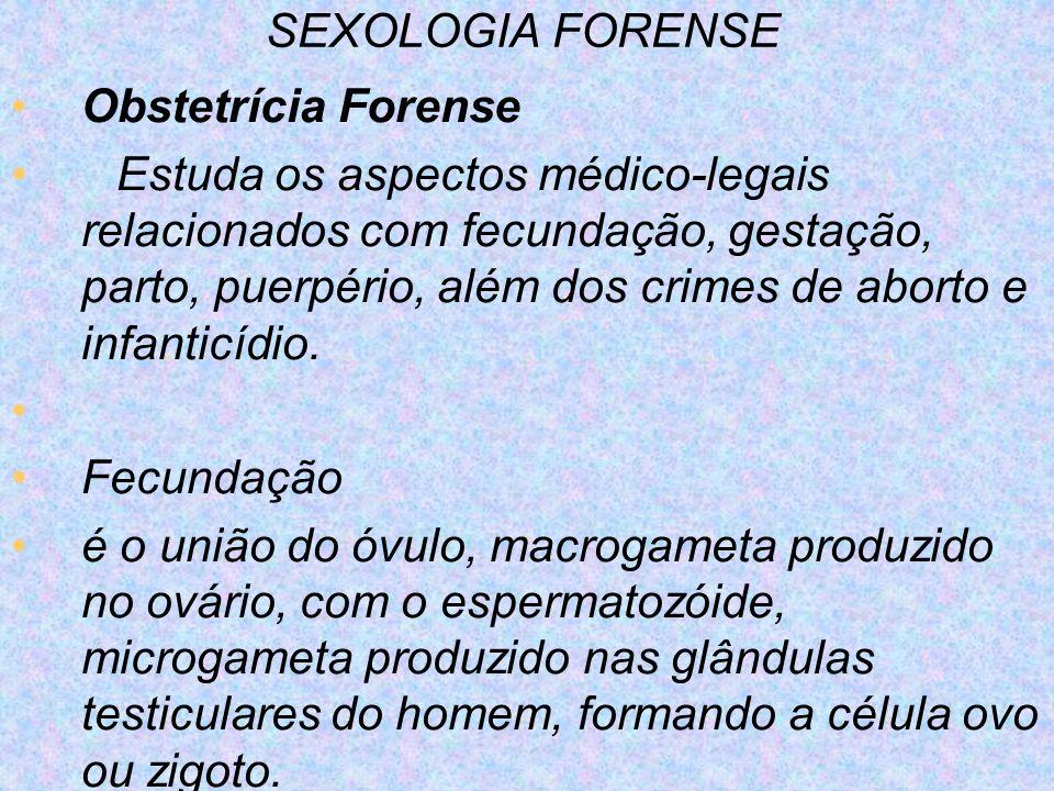 SEXOLOGIA FORENSE Obstetrícia Forense.
