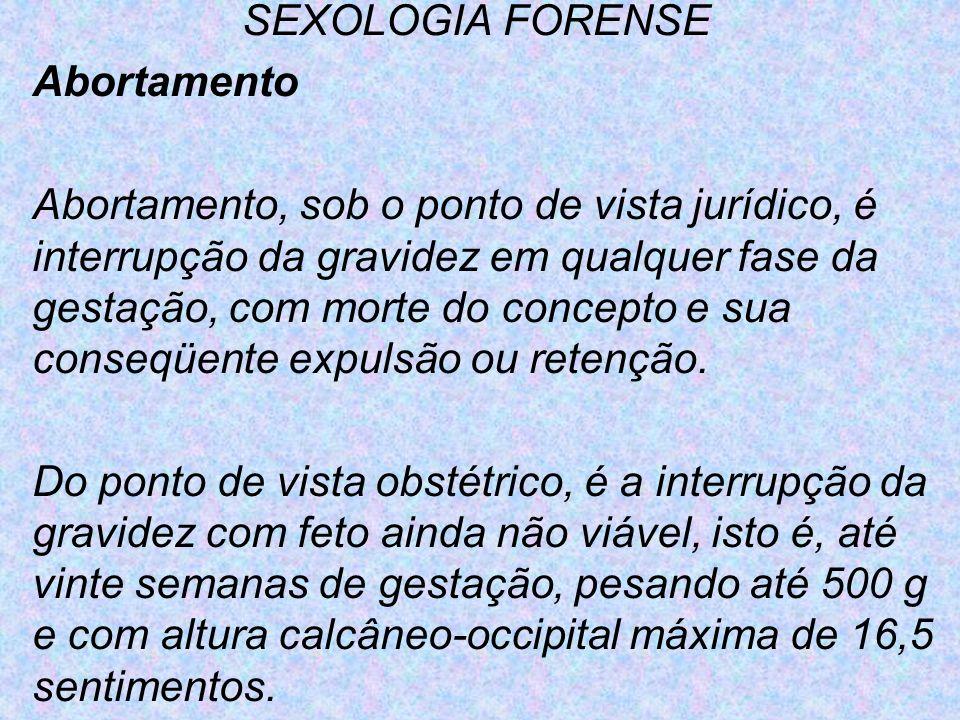 SEXOLOGIA FORENSE Abortamento.