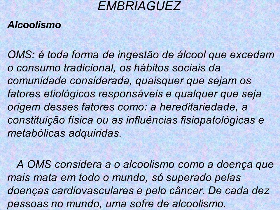 EMBRIAGUEZ Alcoolismo.