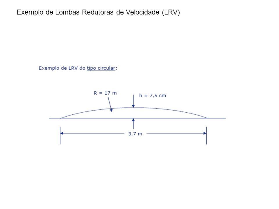Exemplo de Lombas Redutoras de Velocidade (LRV)