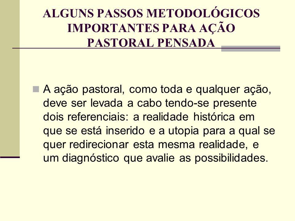 ALGUNS PASSOS METODOLÓGICOS IMPORTANTES PARA AÇÃO PASTORAL PENSADA